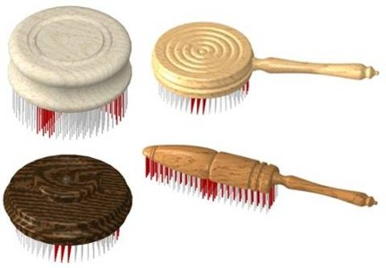 wooden Cloth brush